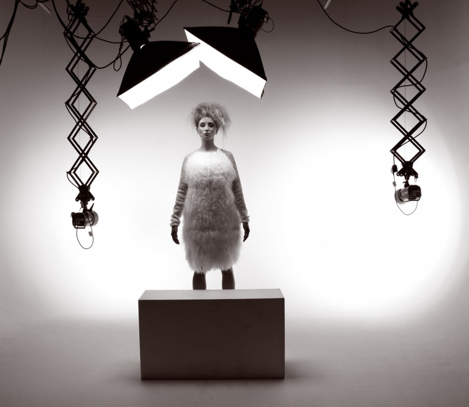 model in photography studio
