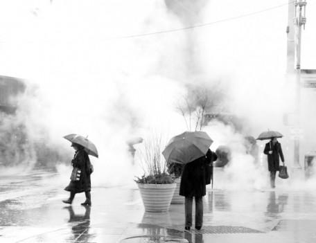 smoke filled street - City People