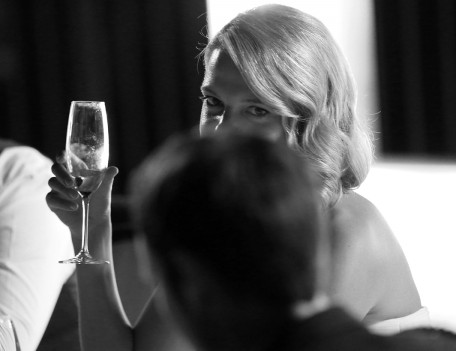bride with wine glass - The Jumeirah Hotel