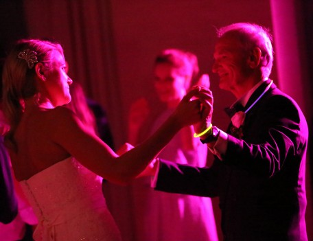 bride with father dancing - The Jumeirah Hotel
