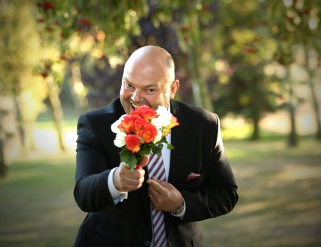 man with bouquet - Favourite Wedding Faces