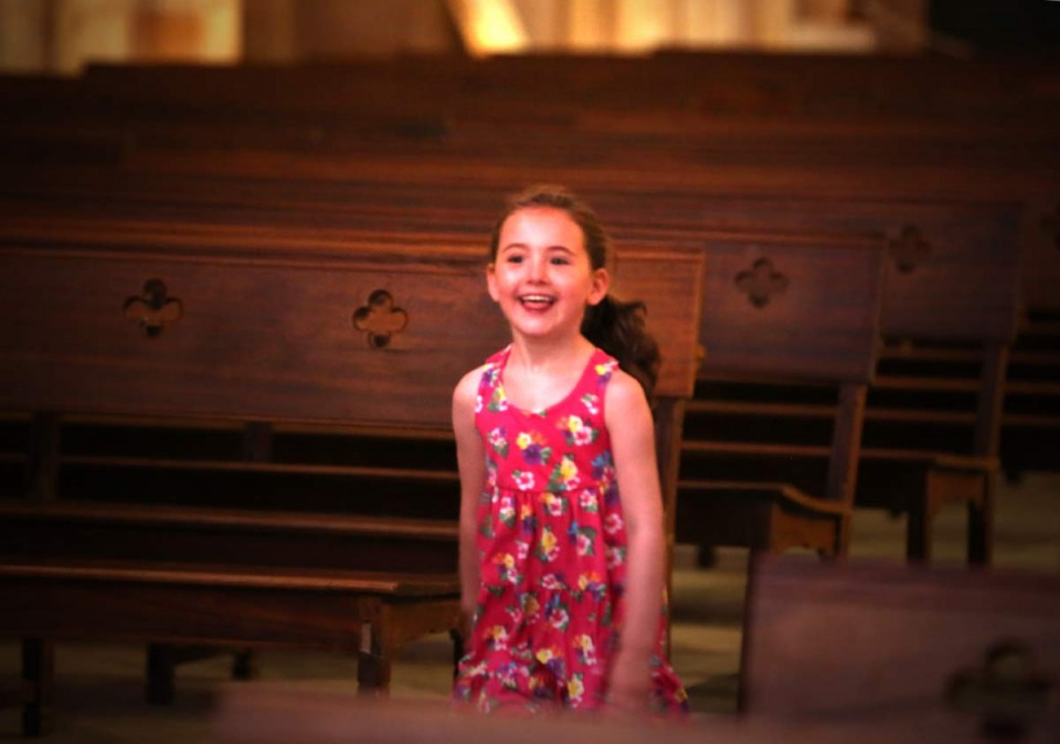girl in church