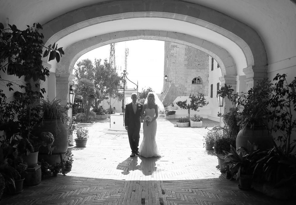 bride approach to church