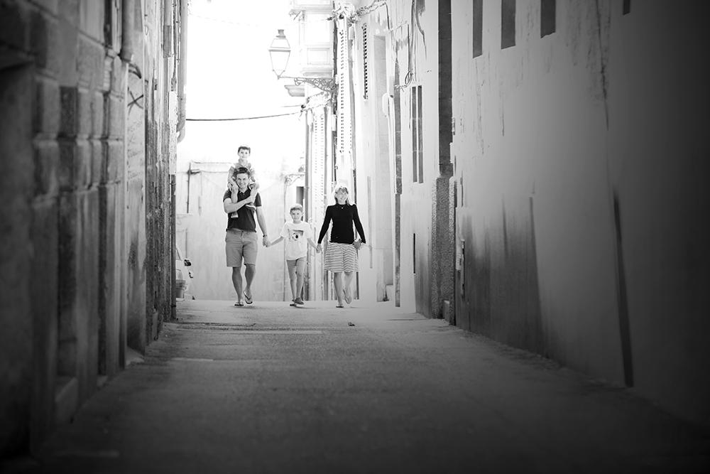 family in old street