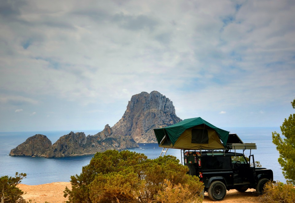 Es Vedra with Land Rover