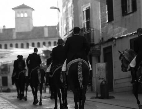 horse riders procession - Mahon Fiesta