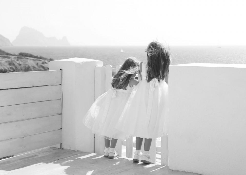 Girls by gate