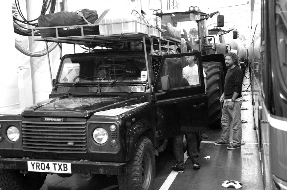 Land Rover on ferry