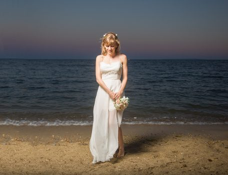 bride on beach - Pura Vida