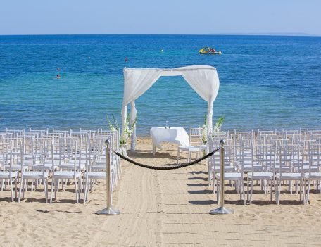 Ceremony seats on beach - Pura Vida