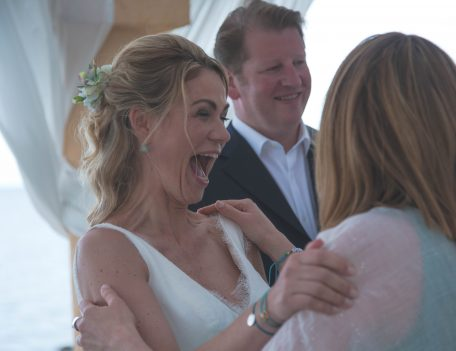Bride laughing - Port Verd del Mar