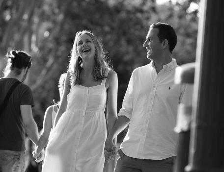 Couple laughing - Palma Engagement Shoot