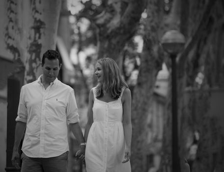 Couple by trees - Palma Engagement Shoot