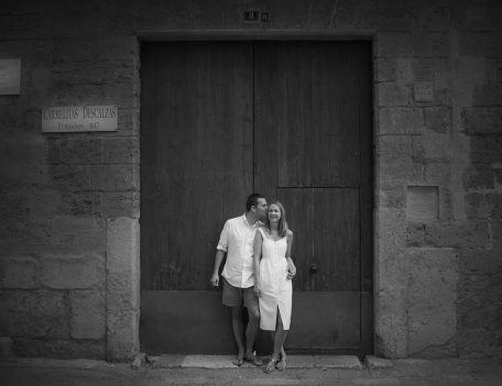 Couple by door - Palma Engagement Shoot