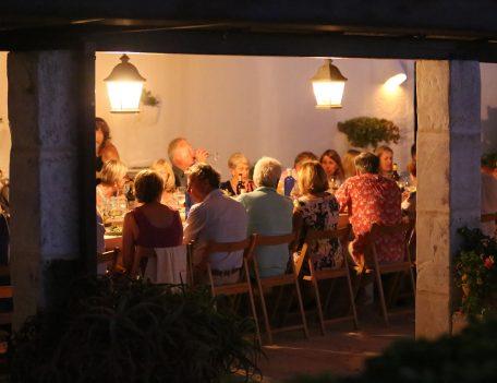 Guests dining - Casa Merdeka Menorca