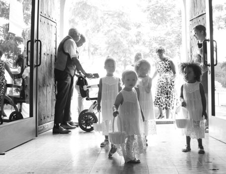Children in church - Can Gall Hotel