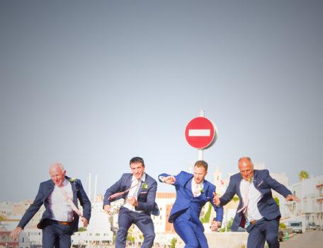 Men jumping - Santa Maria Ciudadella