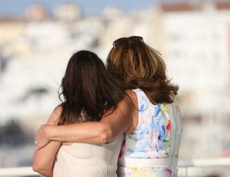girls hug - Santa Maria Ciudadella