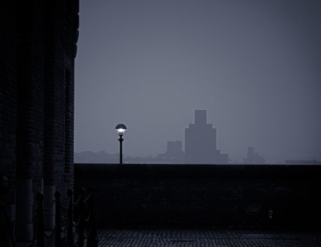 cobbled street and lamp - Cityscapes
