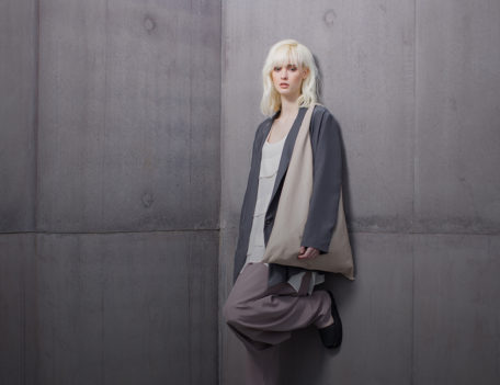 Fashion model at The Hepworth - Nomad at the Hepworth