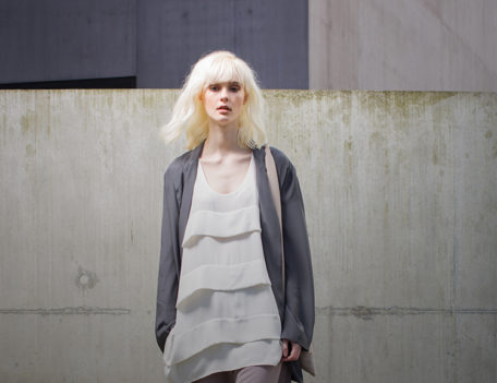 fashion model on concrete steps - Nomad at the Hepworth