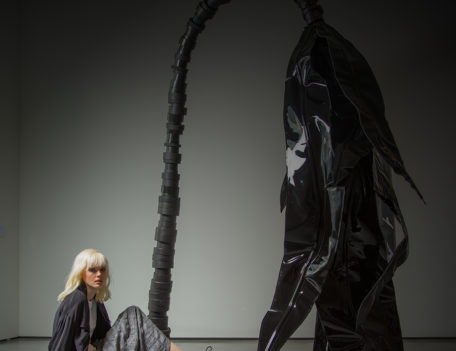 Model and sculpture - Nomad at the Hepworth