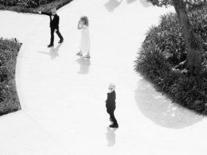 children on path