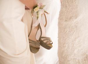 held wedding heeled shoes