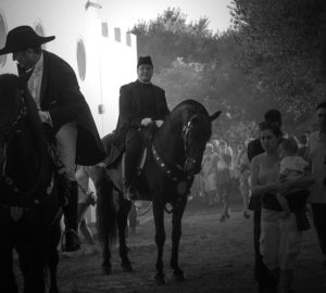 priest on menorca fiesta horse