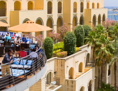 balcony in hotel complex - ITC Malta