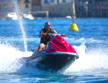 man on jet ski - ITC Malta