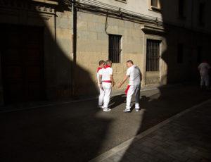 Men in street