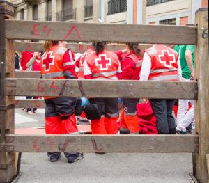 medics in street