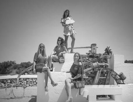 group photograph on well - Hotel Sant Joan de Binissaida