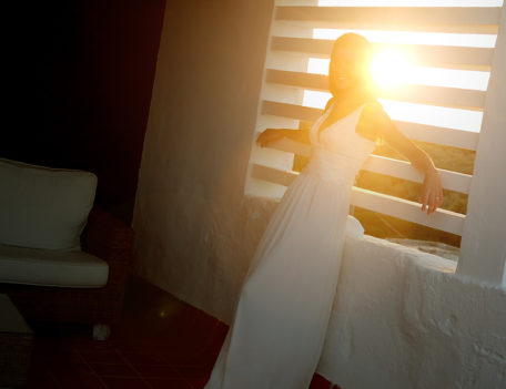 bride with sunset - Hotel Sant Joan de Binissaida