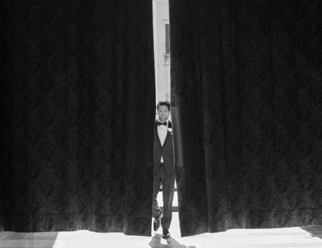 Man approaching curtain - Hotel Cap Rocat
