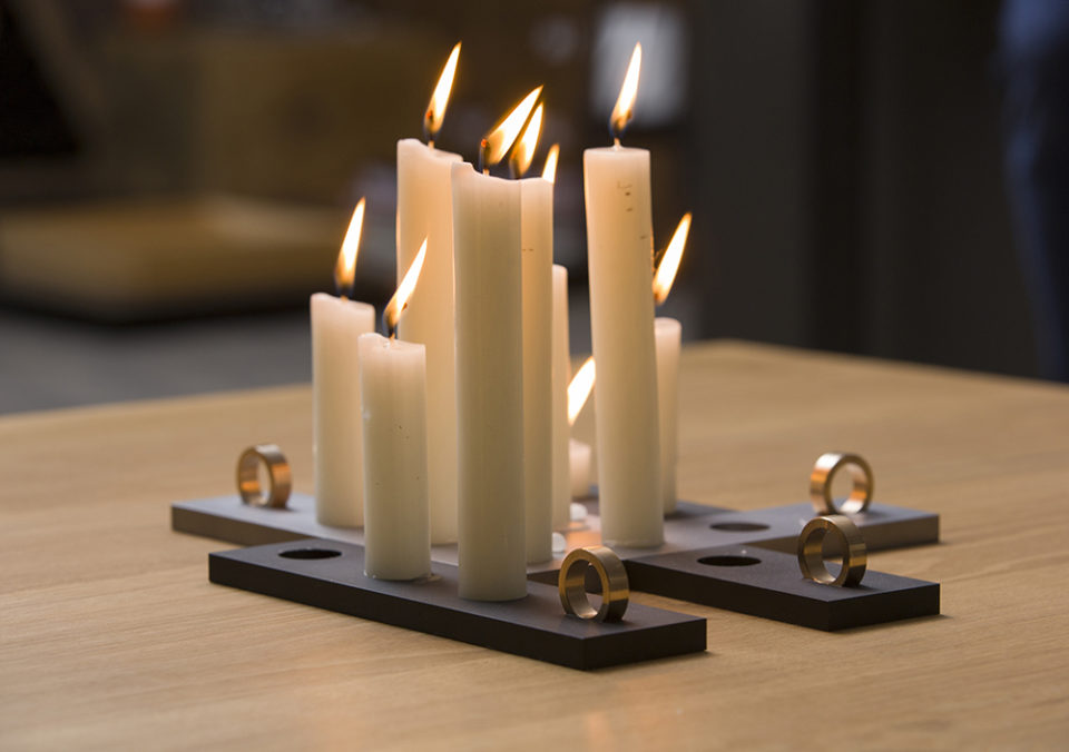 candles with holders