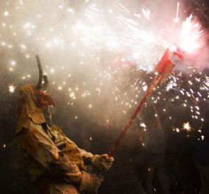 demon with firework