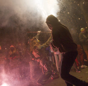 party revellers at Mallorca fiesta