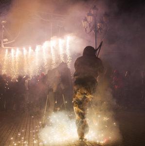 a demon at the Majorca fiesta of Sant Saonti
