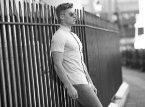 man on railing