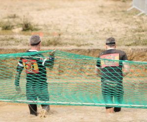 two men on assault course