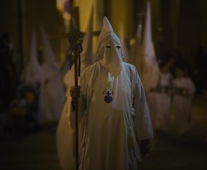 man in Holy Week CATHOLIC costume