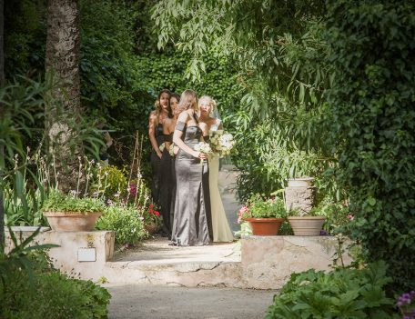 bridesmaids before ceremony - The Bride at Son Marroig