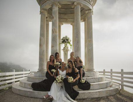 bride with bridesmaids - The Bride at Son Marroig