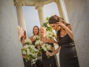 bride and bridesmaids at Son Marroig