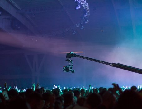 video camera above crowd - Sonar Festival