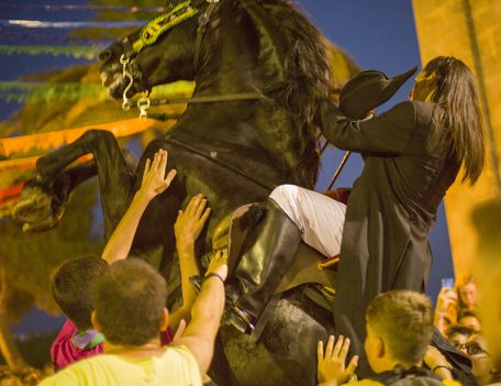 rearing horse - Llucmacanes Fiesta