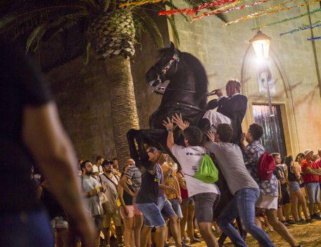 rearing horse at fiesta - Llucmacanes Fiesta