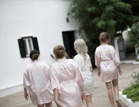 bridal party at house - Binissaida Bride